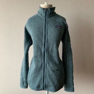 Patagonia Blue Zip Up Sweater NWT